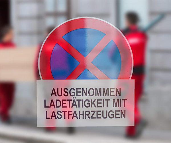 Wir kümmern uns um die Aufstellung der Halteverbot für Ihren Umzug in Wien